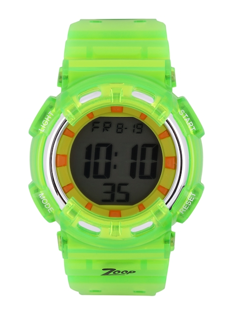 Zoop NEC3026PP03J Green Digital Chronograph Kid's Watch