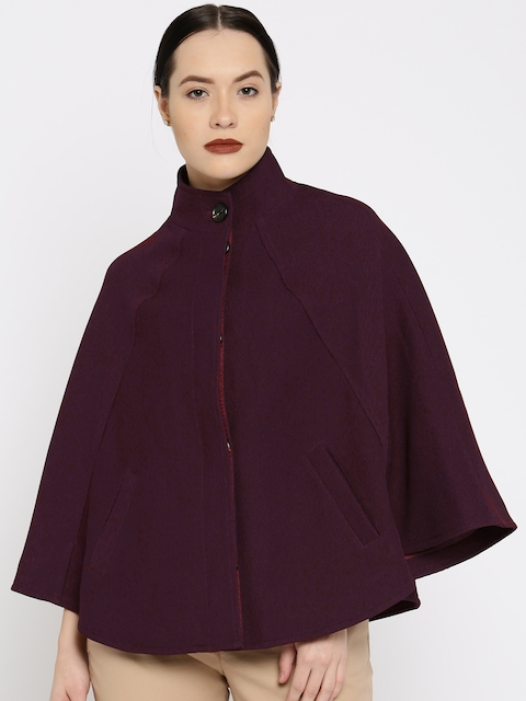 All About You from Deepika Padukone Maroon Sleeveless Cape Jacket