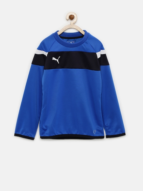 PUMA Boys Blue Spirit II Training Sweatshirt
