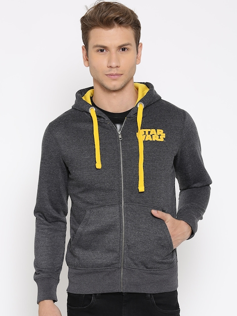 STAR WARS Charcoal Grey Printed Hooded Sweatshirt