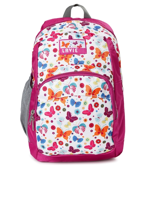 Lavie Women Pink Printed Impact Backpack