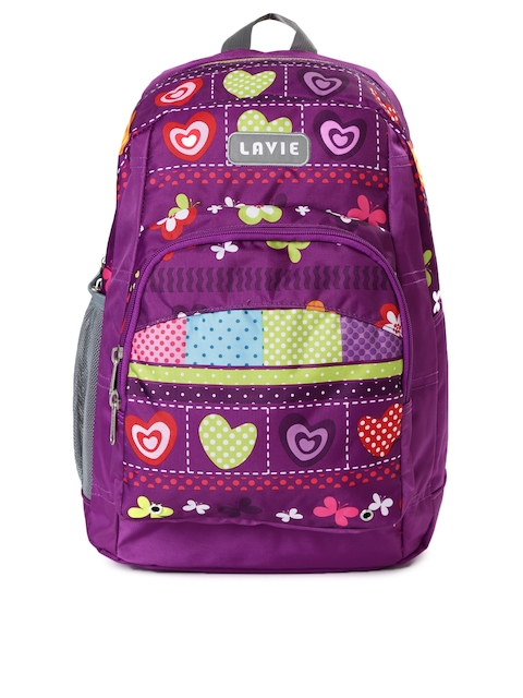 Lavie Women Purple Printed Impact Backpack