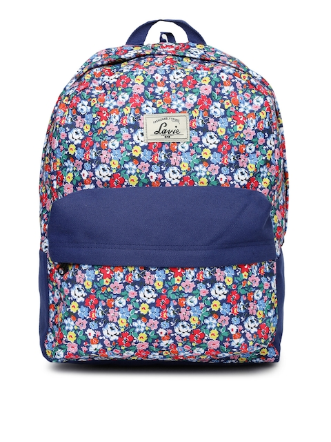 Lavie Women Navy Floral Print Backpack