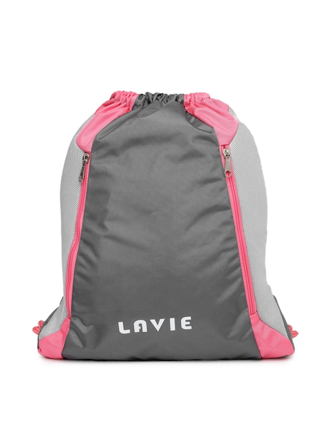 Lavie Women Grey & Pink Backpack