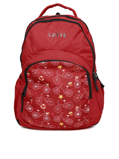 Lavie Women Red Printed Backpack