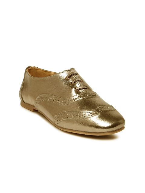 Lavie Women Gold-Toned Casual Shoes