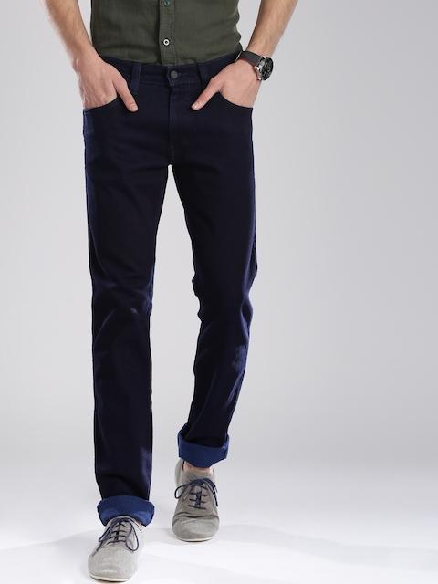 Levis Men Navy Skinny Fit Low-Rise Clean Look Jeans
