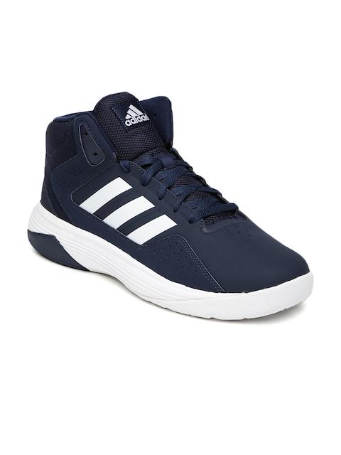 Adidas NEO Men Navy Cloudfoam Ilation Mid-Top Sneakers