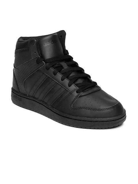 Adidas NEO Women Black Hoopster Mid-Top Sneakers