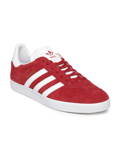 Adidas Originals Men Red Gazelle Sneakers  available at myntra for Rs.3799