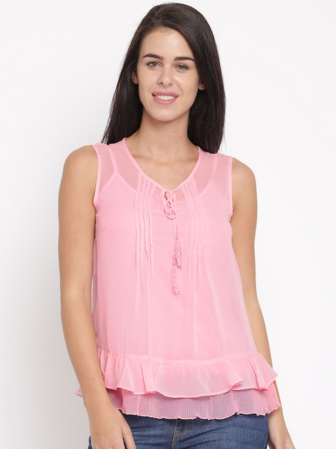 Allen Solly Woman Pink Solid Regular Top