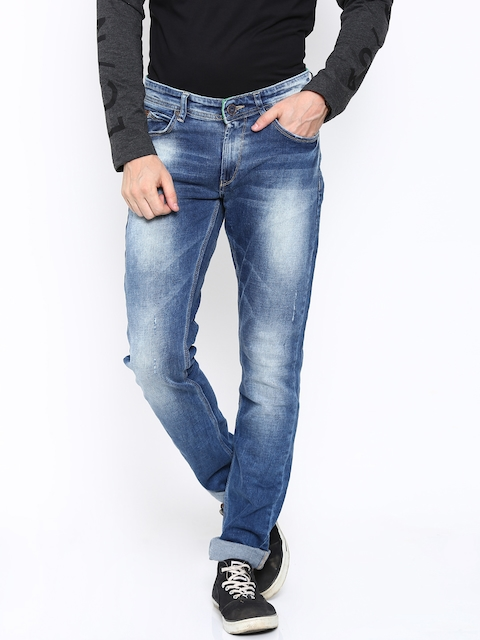 SPYKAR Men Blue Skinny Fit Low-Rise Stretchable Jeans  available at myntra for Rs.1079