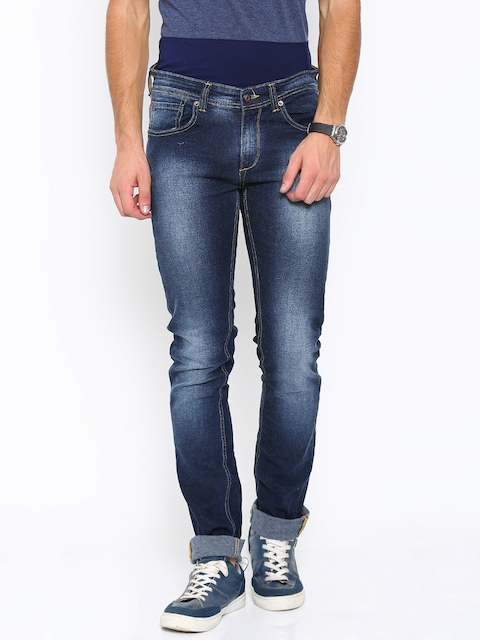 SPYKAR Men Blue Skinny Fit Low-Rise Stretchable Jeans  available at myntra for Rs.1034