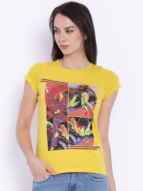 Wrangler Yellow Printed T-shirt