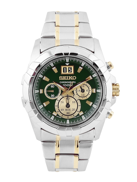 SEIKO LORD Men Green Chronograph Dial Watch SPC186P1