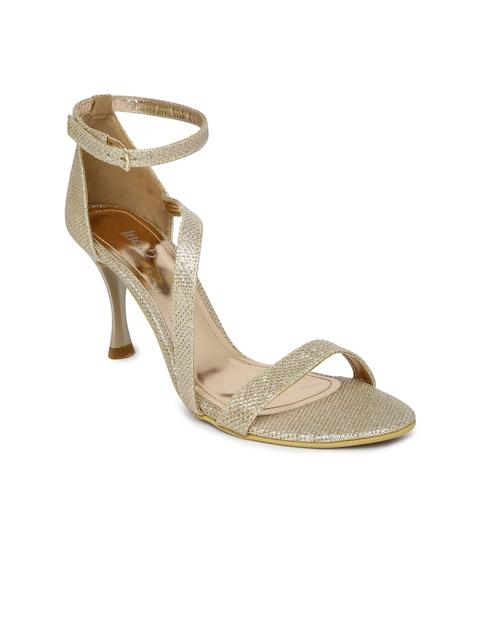 Inc.5 Women Bronze-Toned Shimmery Heels