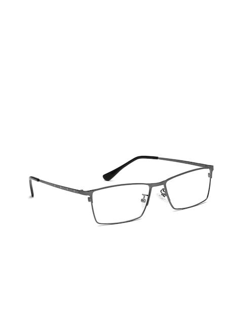 Mast & Harbour Men Charcoal Grey Rectangular Frames