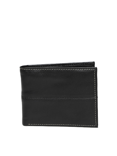 Wills Lifestyle Men Black Genuine Leather Wallet