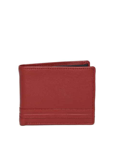 Wills Lifestyle Men Red Genuine Leather Wallet