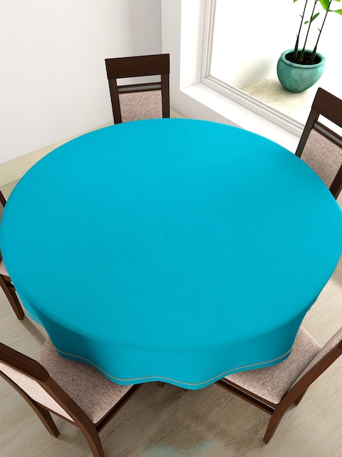 SWAYAM Blue Round 72 Cotton Table Cloth