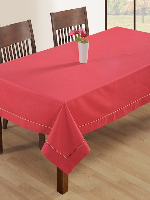 SWAYAM Pink Rectangular 90 x 60 Cotton Table Cover