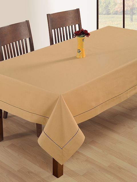 SWAYAM Beige Rectangular 90 x 60 Cotton Table Cloth