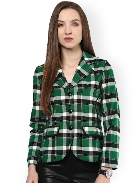 The Vanca Green Checked Tailored Jacket
