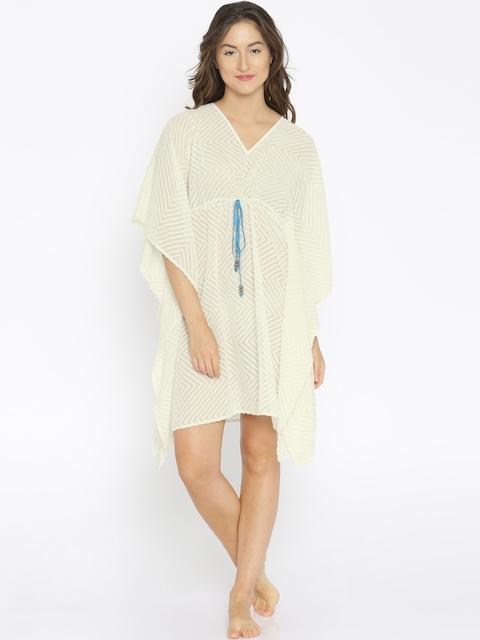 The Kaftan Company Off-White Kaftan Cover-up Dress RW_PARDS020