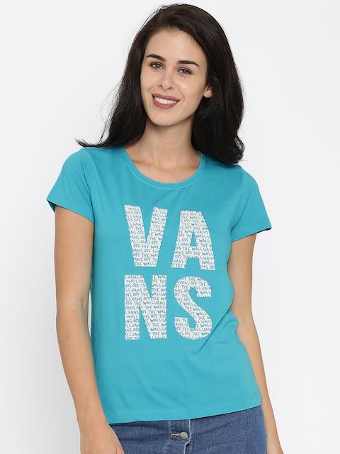 Vans Blue Printed T-shirt