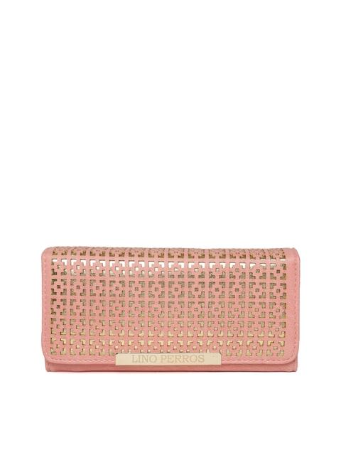 Lino Perros Women Peach-Coloured Cut-Out Wallet