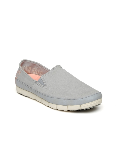 Crocs Women Grey Slip-On Sneakers
