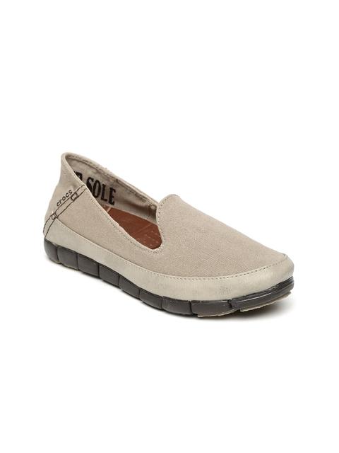 Crocs Women Brown Slip-On Sneakers
