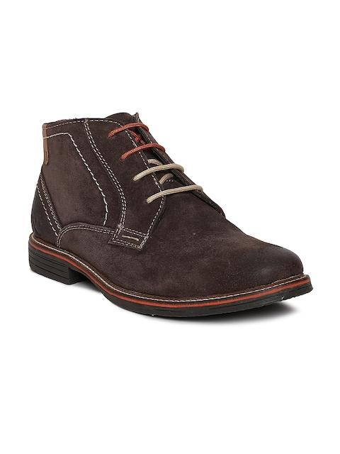 Numero Uno Men Brown Suede Flat Boots