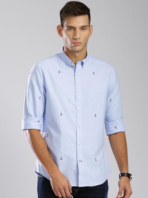 Tommy Hilfiger Men Blue Regular Fit  Casual Shirt