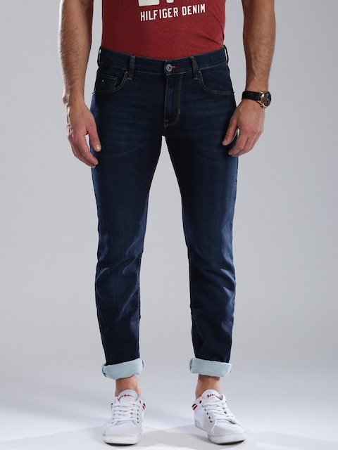 Tommy Hilfiger Men Blue Slim Fit Low-Rise Stretchable Jeans