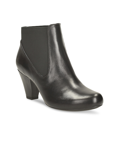 Clarks Women Black Leather Boots