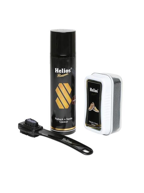 Helios Brown Nubuck & Suede Mega Shoe Care Kit