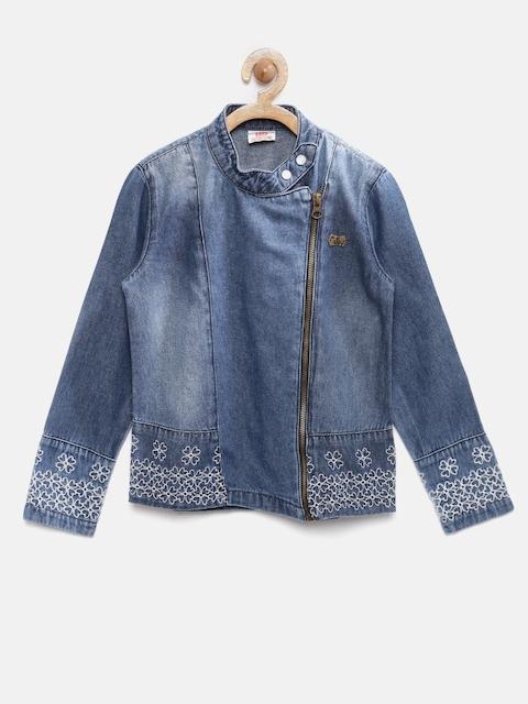 UFO Girls Blue Washed Denim Jacket