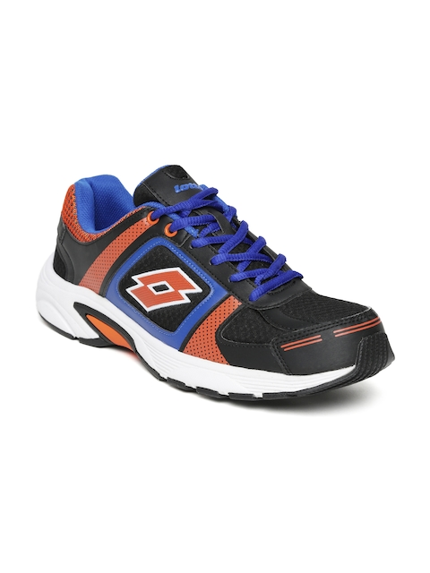 Lotto Men Black & Orange Running Shoes