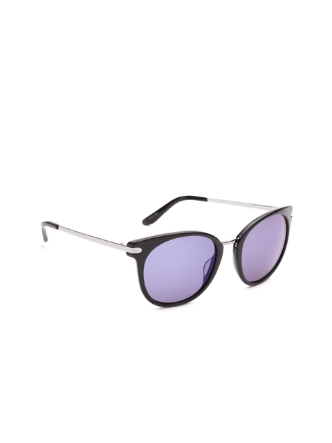 GUESS Unisex Mirrored Oval Sunglasses 7318 9F