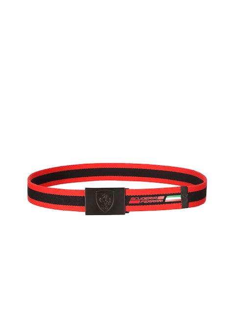 PUMA Men Red & Black Ferrari Fanwear Belt