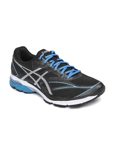 ASICS Men Black Gel Pulse 8 Running Shoes