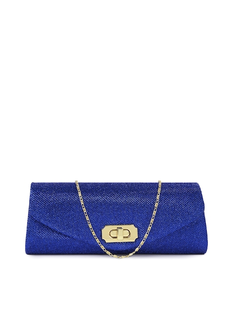 Mast & Harbour Blue Shimmery Clutch