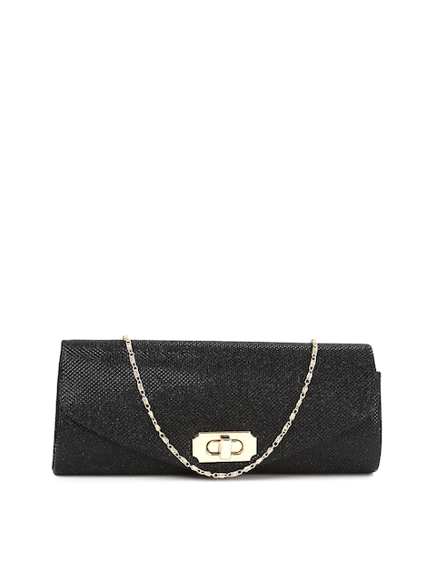 Mast & Harbour Black Shimmery Clutch