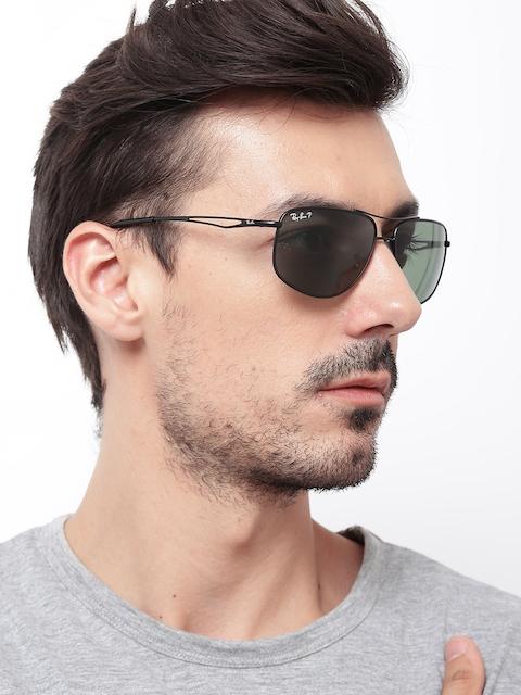 Ray-Ban Men Polarised Rectangular Sunglasses 0RB3490I006/9A62