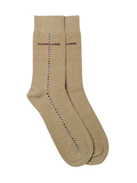 Woodland Men Brown Patterned Above Ankle-Length Socks  available at myntra for Rs.140