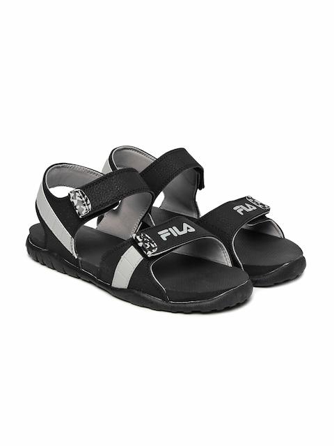 FILA Men Black & Grey Hamlin Sports Sandals  available at myntra for Rs.689