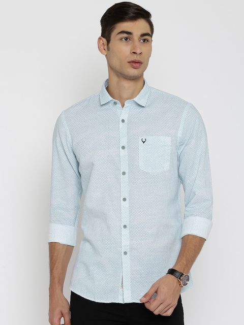 Allen Solly Men White Regular Fit Printed Casual Shirt