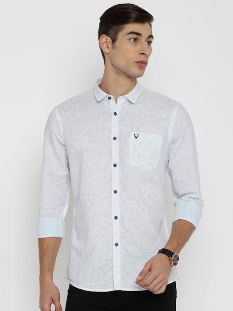 Allen Solly Men White Regular Fit Printed Casual Shirt