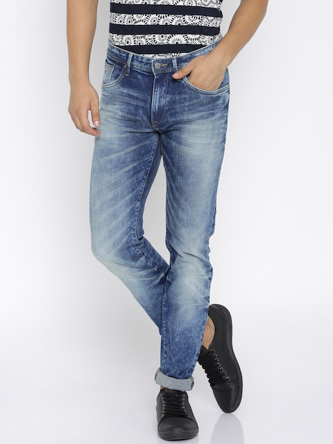 Allen Solly Men Blue Slim Fit Low Rise Clean Look Jeans